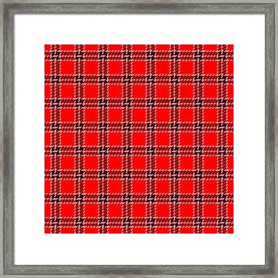 Red White Black Plaid Framed Print