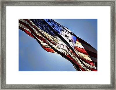Red White  Blue Framed Print by Chuck Kuhn