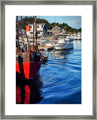 Framed Print featuring the photograph Red White Blue by Kendall McKernon
