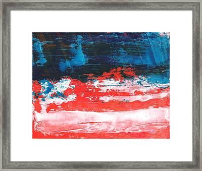 Red White Blue Scene Framed Print