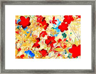 Framed Print featuring the photograph Red Wild Flowers by Marianne Dow