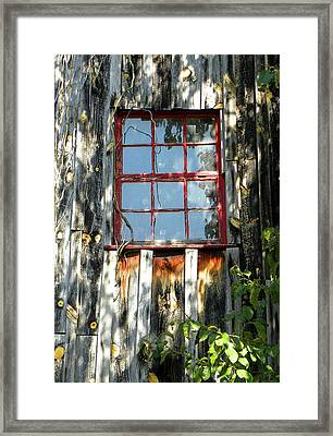 Framed Print featuring the photograph The Red Window by Sandi OReilly