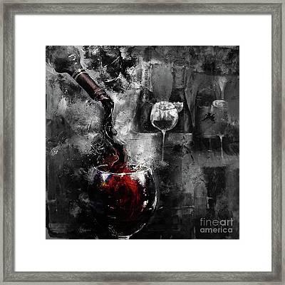 Red Wine 01 Framed Print by Gull G