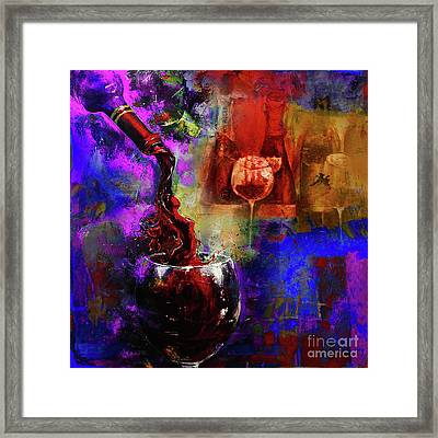 Red Wine 02 Framed Print by Gull G