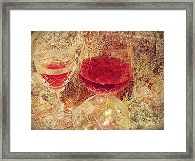 Red Wine 3 Framed Print by Sarah Loft