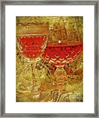Red Wine 4 Framed Print by Sarah Loft