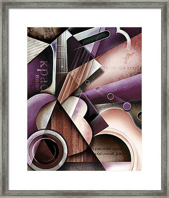 Red Wine And Jazz Framed Print