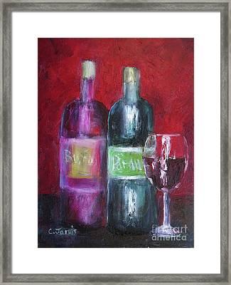 Red Wine Art Framed Print