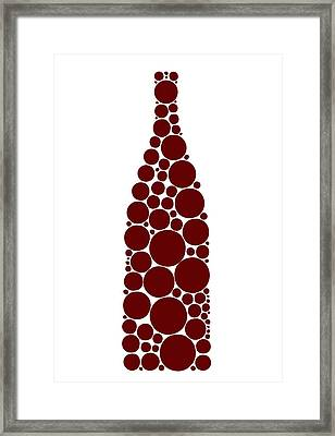 Red Wine Bottle Framed Print