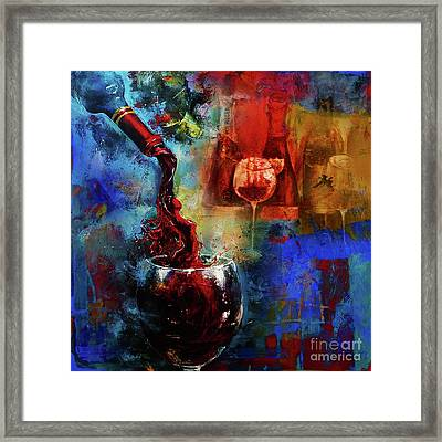 Red Wine Framed Print by Gull G