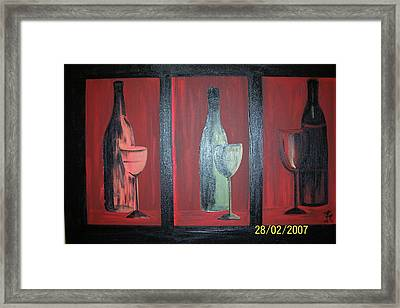 Red Wine Framed Print by Martha Mullins