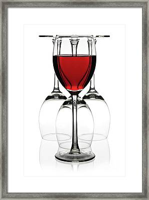 Red Wine Framed Print by Pics For Merch