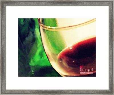 Red Wine Framed Print by Sarah Loft