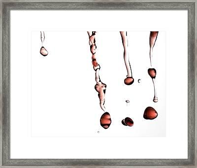 Red Wine Splash Framed Print by Frank Tschakert
