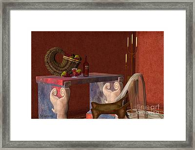 Red Wineglass Framed Print by Corey Ford