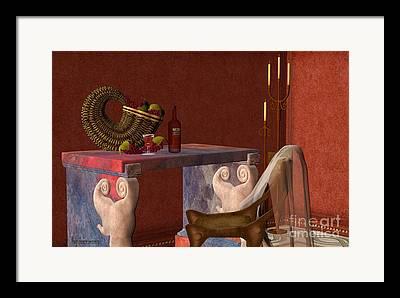 Images Of Wine Bottles Digital Art Framed Prints