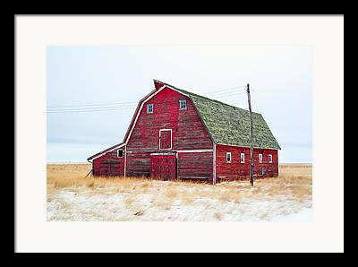Red Barn Framed Prints