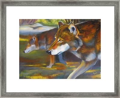 Red Wolves Framed Print