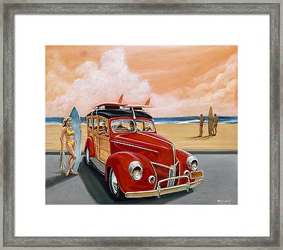Red Woodie Framed Print by Hank Wilhite