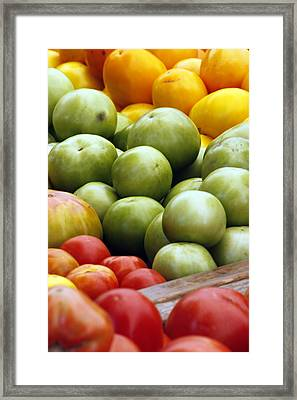 Red Yellow Green Framed Print by Alan Todd