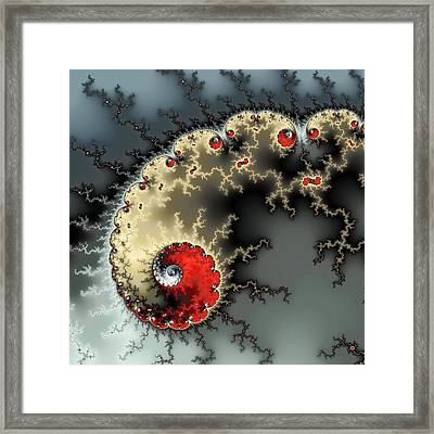 Red Yellow Grey And Black - Amazing Mandelbrot Fractal Framed Print by Matthias Hauser