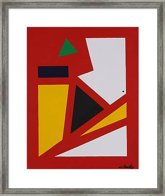 Red Yellow White Framed Print