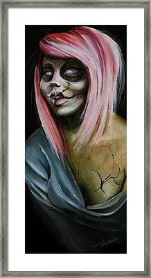 Red Zombie Framed Print by Matt Truiano