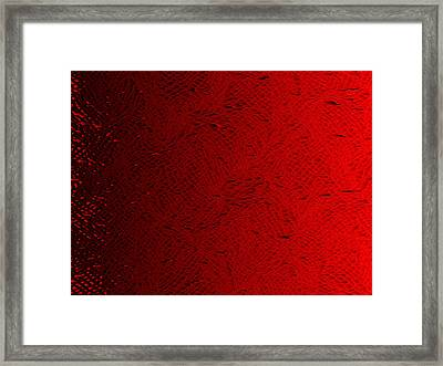 Red.430 Framed Print