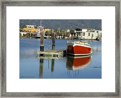 Redboat Framed Print by Vari Buendia