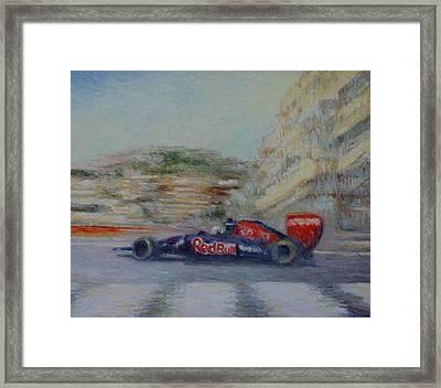 Redbull Racing Car Monaco  Framed Print