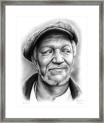 Redd Foxx Framed Print by Greg Joens