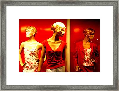 Reddy Girls Framed Print by Jez C Self