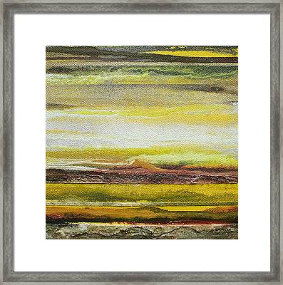 Redesdale Rhythms And Textures Series No3 Yellow And Sepia Framed Print by Mike   Bell