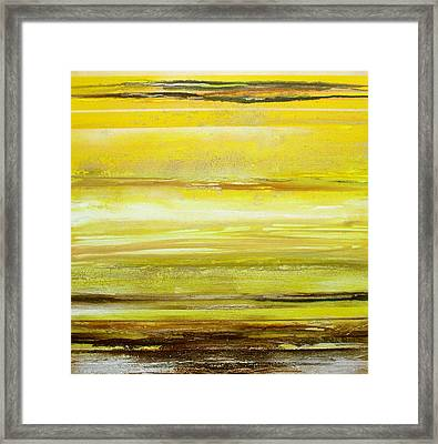 Redesdale Rhythms And Textures Yellw And Sepia Framed Print by Mike   Bell