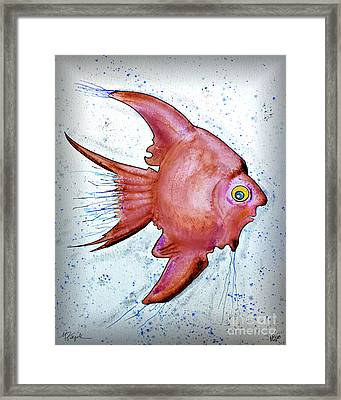 Framed Print featuring the mixed media Redfish by Walt Foegelle