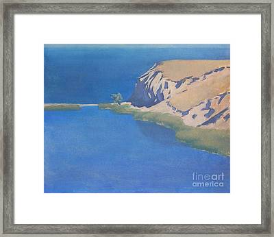 Redhead Cliff.etude Framed Print by Andrey Soldatenko