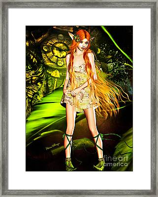 Redhead Forest Pixie Framed Print