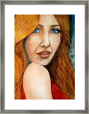 Redhead In October Framed Print