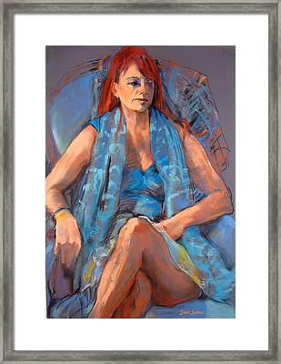 Redhead Framed Print by Joan  Jones