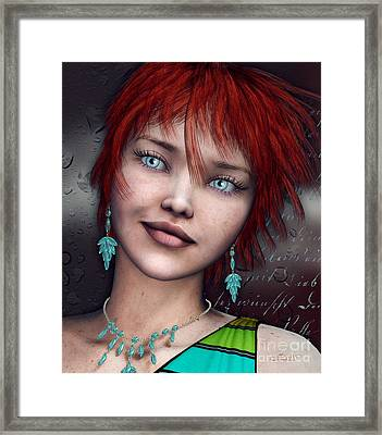Redhead Framed Print by Jutta Maria Pusl
