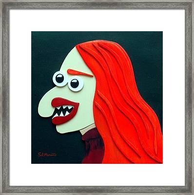 Redhead Framed Print by Sal Marino
