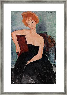 Redheaded Girl In Evening Dress Framed Print