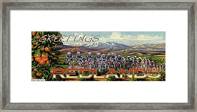 Redlands Greetings Framed Print by Linda Weinstock