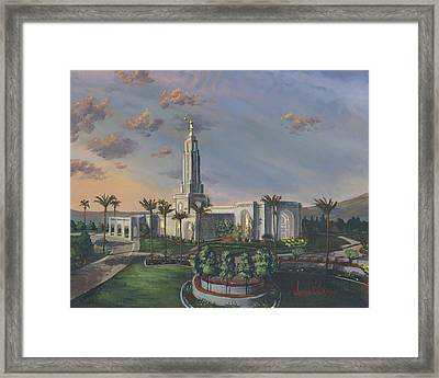 Redlands Temple Framed Print