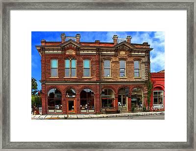 Redmens Hall - Jacksonville Oregon Framed Print by James Eddy