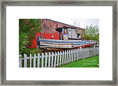 Redneck Dry Dock Framed Print