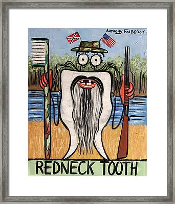 Redneck Tooth Framed Print by Anthony Falbo