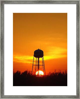 Redneck Water Heater For Whole Town Framed Print