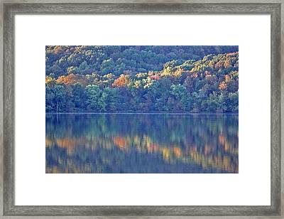 Rednor Lake Reflections - 1 Framed Print by Randy Muir