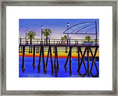 Redondo Beach Pier Framed Print by Jamie Frier